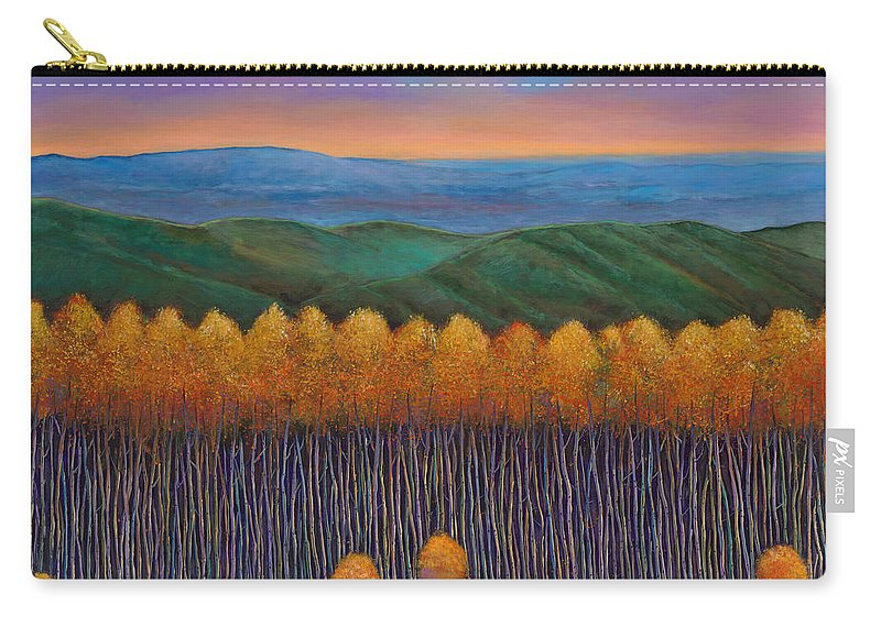 Autumn Aspen Carry-all Pouch featuring the painting Aspen Perspective by Johnathan Harris