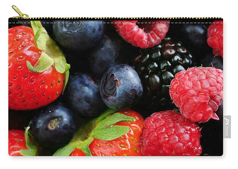 Berry Carry-all Pouch featuring the photograph Assorted Fresh Berries by Elena Elisseeva