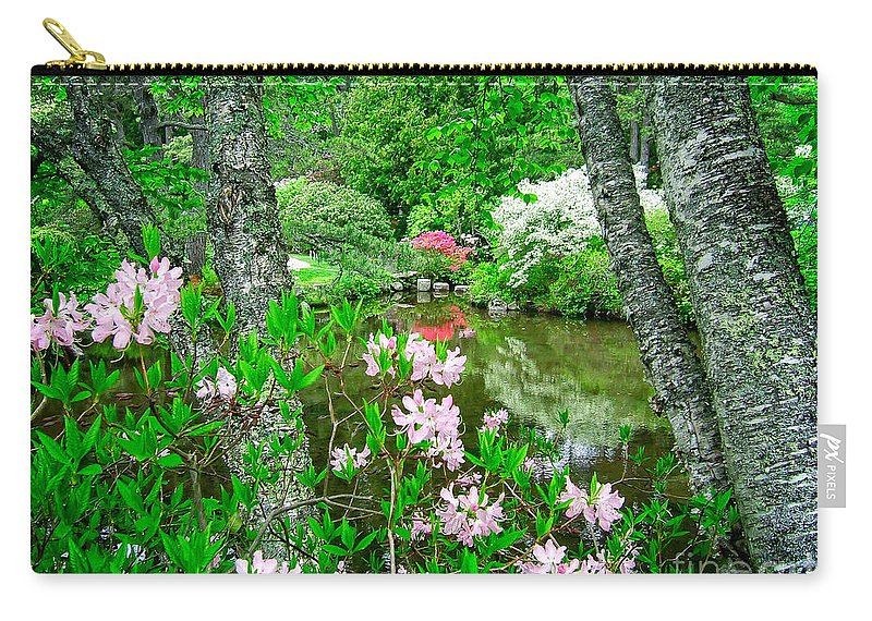 Acadia Carry-all Pouch featuring the photograph Asticou Azalea Garden by Edward Fielding