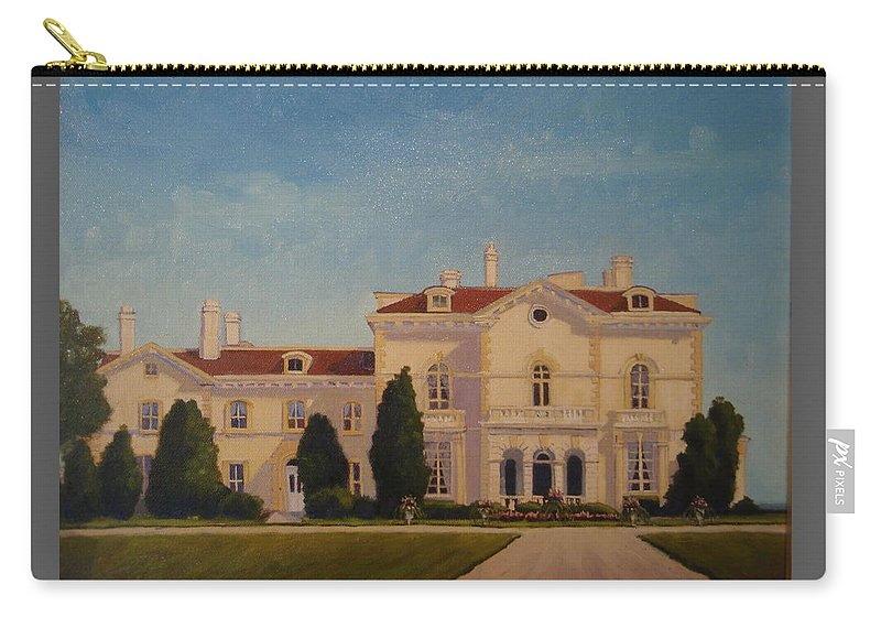 Newport Mansions. Newport Carry-all Pouch featuring the painting Astors Beechwood Mansion by Betty Ann Morris