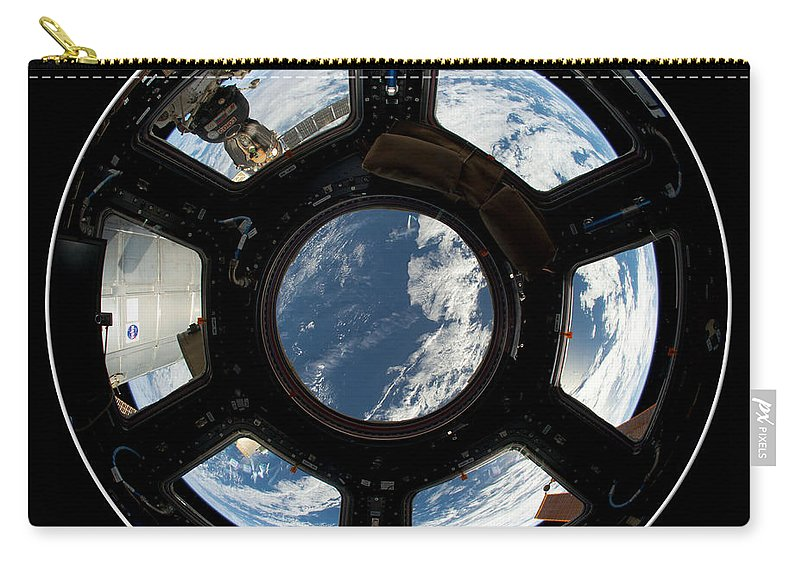 International Space Station Carry-all Pouch featuring the photograph Astronauts View From The Space Station by Rose Santuci-Sofranko