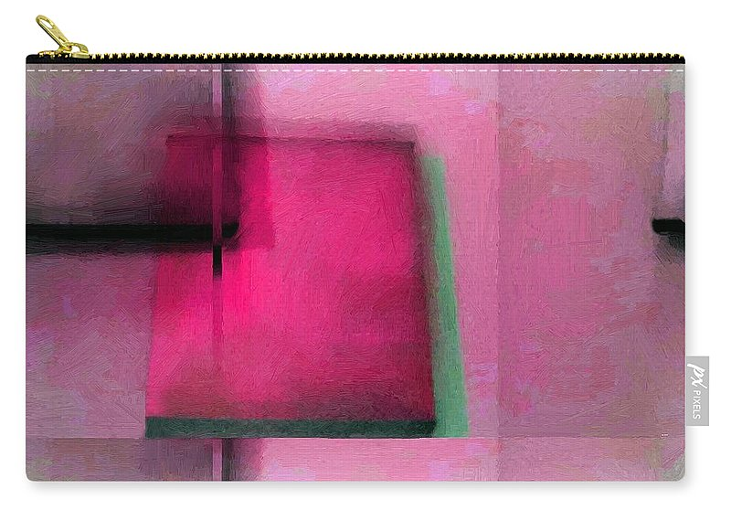 Abstract Carry-all Pouch featuring the painting Asymmetrical Symmetry by RC DeWinter