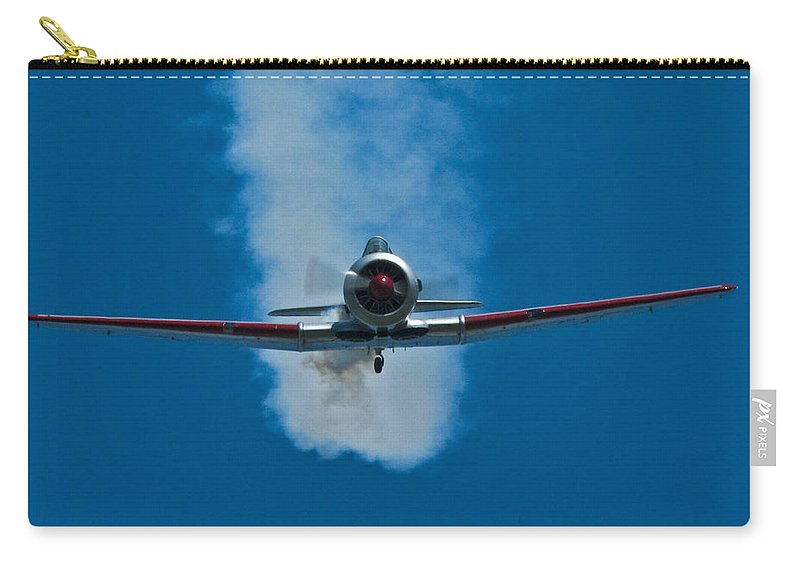 At-6 Texan Carry-all Pouch featuring the photograph At-6 Texan by Rob Mclean