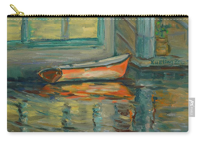 At Boat House Carry-all Pouch featuring the painting At Boat House 2 by Xueling Zou