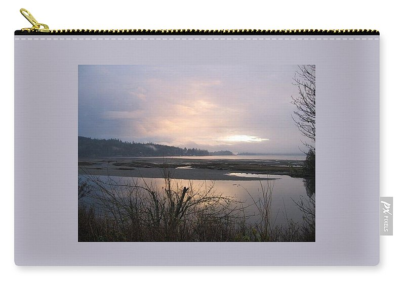 Landscape Carry-all Pouch featuring the photograph At Dusk by Stephanie Bland