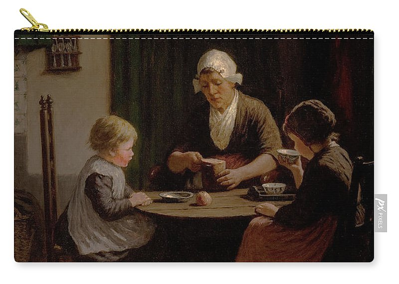 Grandmother Carry-all Pouch featuring the painting At Grandmothers by David Adolph Constant Artz