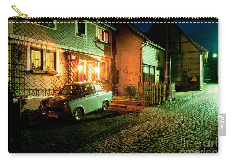 Asleep Carry-all Pouch featuring the photograph At Night In Thuringia Village Germany by Stephan Pietzko
