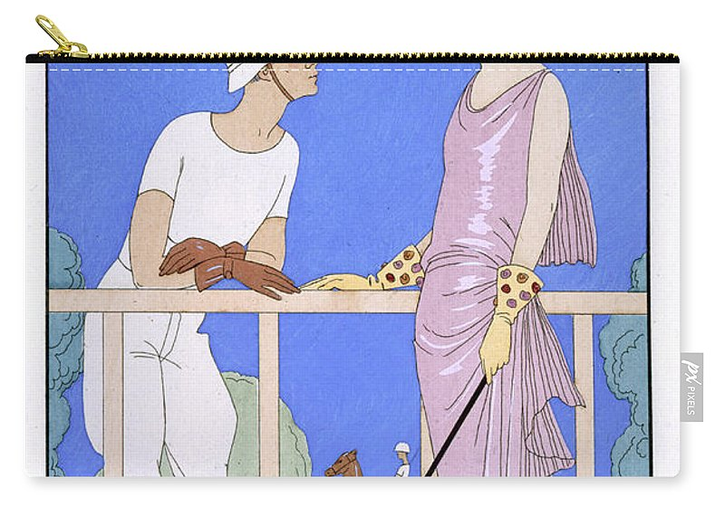 Au Polo Carry-all Pouch featuring the painting At Polo by Georges Barbier