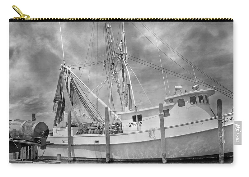 Ship Carry-all Pouch featuring the photograph At Rest In The Harbor by Betsy Knapp