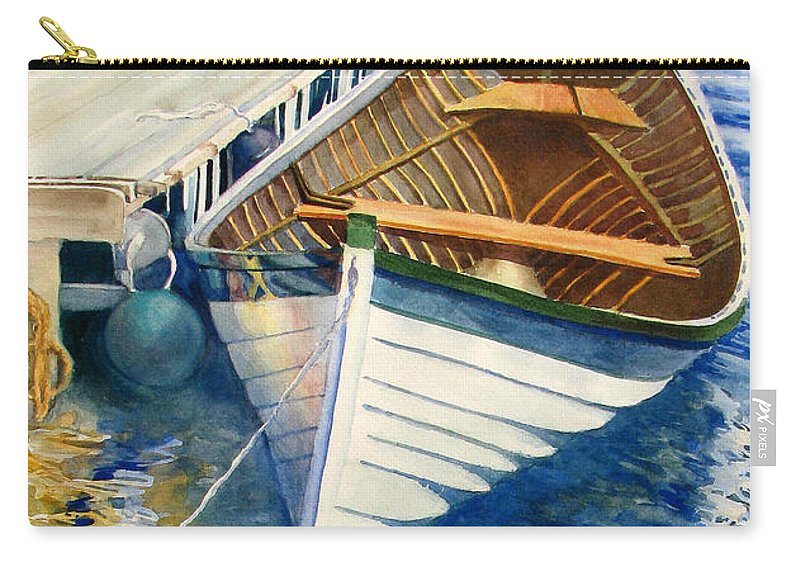 Nature Carry-all Pouch featuring the painting At Rest by Sherri Bails