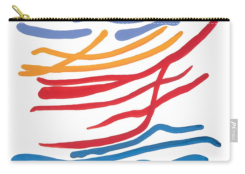 Nautic Carry-all Pouch featuring the painting At Sea by Bjorn Sjogren