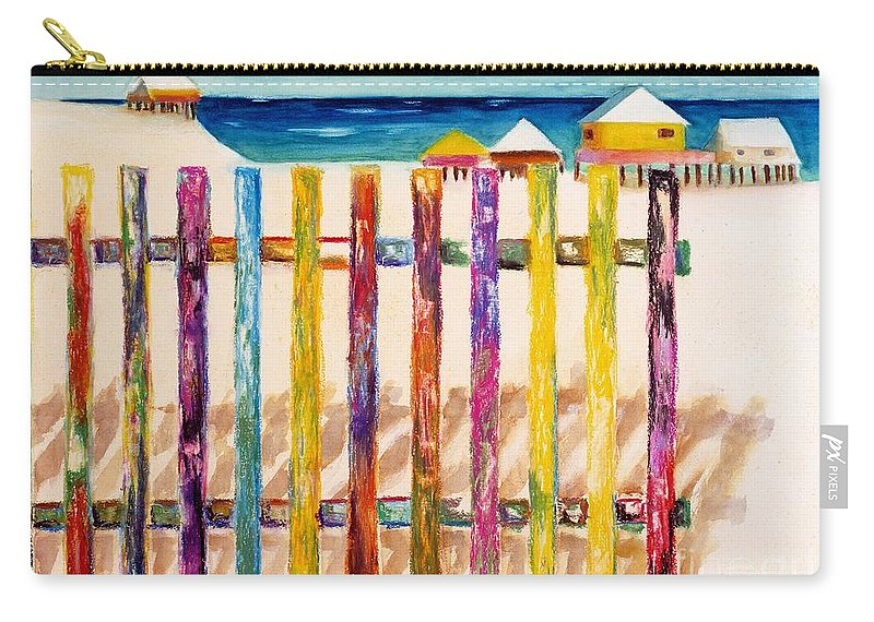 Beach Carry-all Pouch featuring the painting At The Beach by Frances Marino