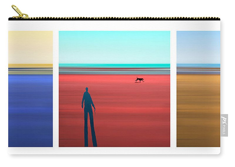 Tryptych Carry-all Pouch featuring the photograph At The Beach by Mal Bray
