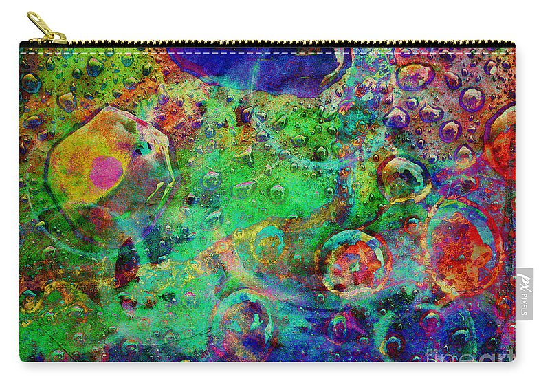 Abstract Carry-all Pouch featuring the digital art At The Cellular Level by Meghan at FireBonnet Art