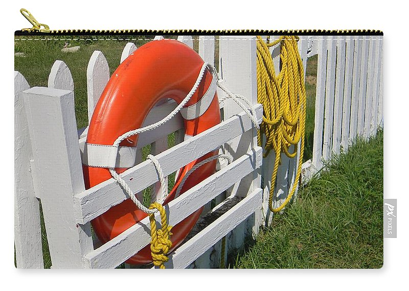 Seaside Carry-all Pouch featuring the photograph At The Ready by Jean Goodwin Brooks
