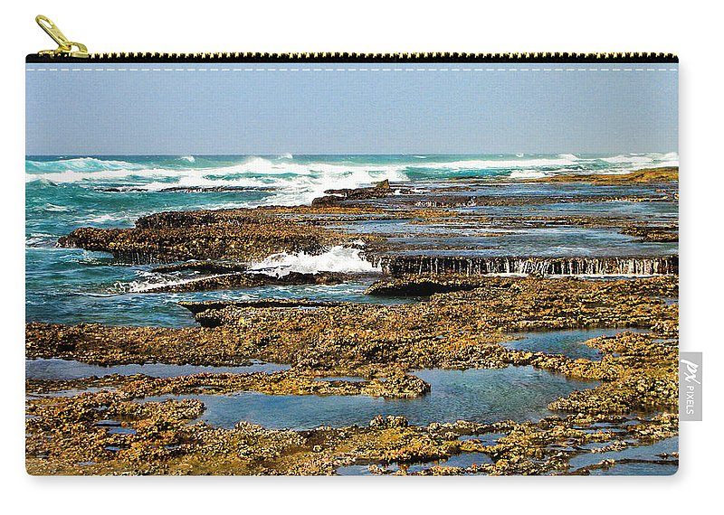 Sea Carry-all Pouch featuring the photograph At The Sea by Ronel Broderick