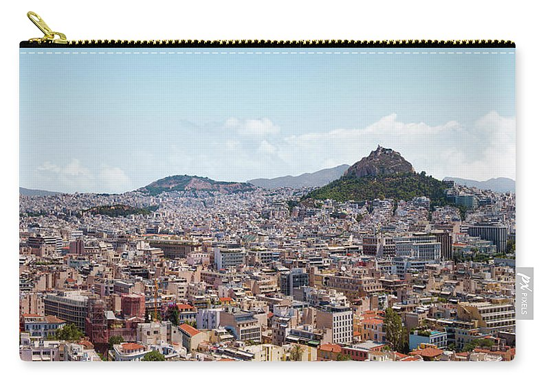 Greek Culture Carry-all Pouch featuring the photograph Athens Panorama View From The Acropolis by Ed Freeman
