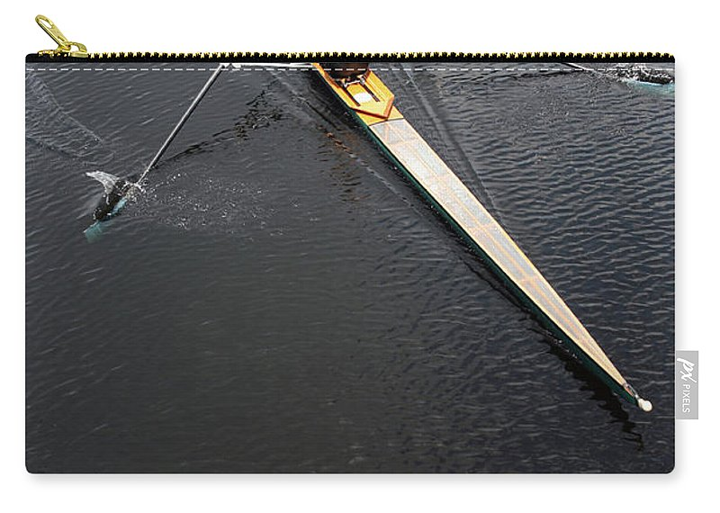 Sport Rowing Carry-all Pouch featuring the photograph Athlete Rowing And Sculling by Shanekato