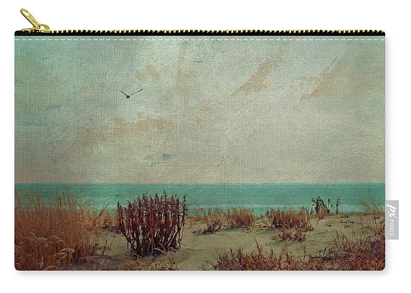 Ocean Carry-all Pouch featuring the photograph Atlantic City Seagull by Trish Tritz