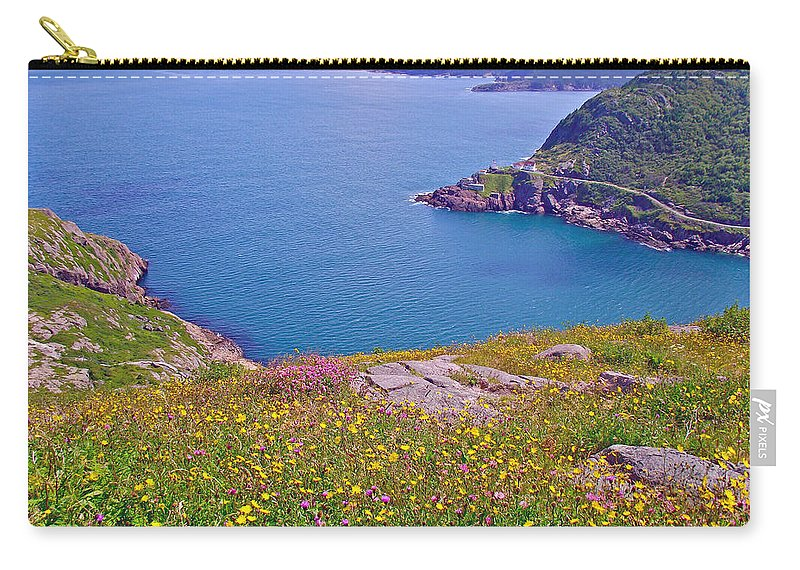 Atlantic Ocean From Signal Hill National Historic Site In Saint John's Carry-all Pouch featuring the photograph Atlantic Ocean From Signal Hill National Historic Site In Saint John's-nl by Ruth Hager