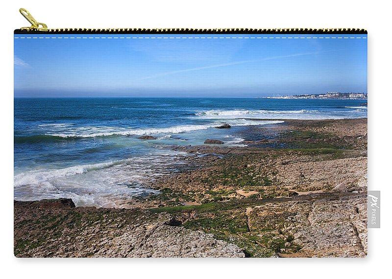 Cascais Carry-all Pouch featuring the photograph Atlantic Ocean Shore In Estoril by Artur Bogacki