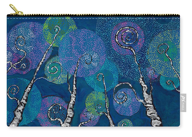 Trees Carry-all Pouch featuring the painting Atlantis Arbor by Joel Tesch