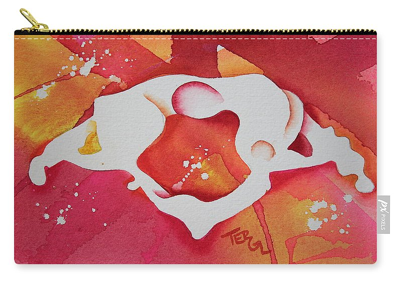 Chiropractic Artwork Carry-all Pouch featuring the painting Atlas S To I View by Teresa Grace Fourre