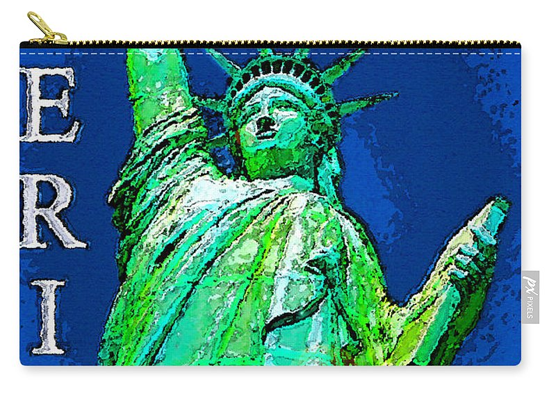 Art Carry-all Pouch featuring the painting The Light Of Freedom by David Lee Thompson