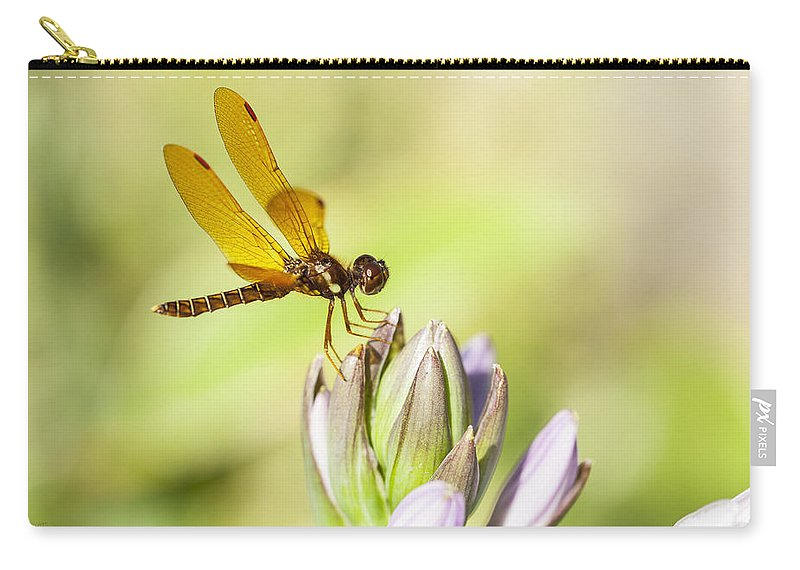 Flowers Carry-all Pouch featuring the photograph Atop The Hostas by Karol Livote