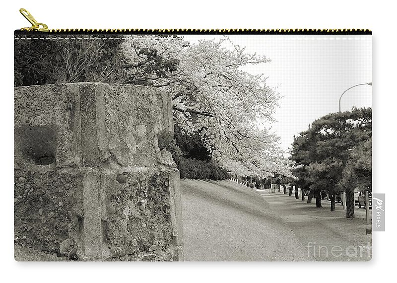 Cherry Carry-all Pouch featuring the photograph Atsugi Pillbox Walk F by Jay Mann