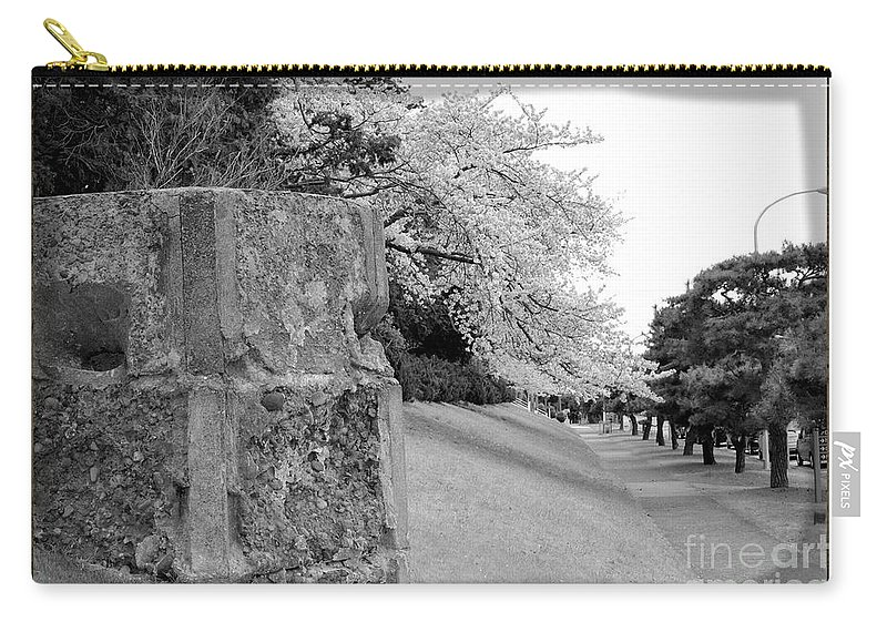 Cherry Carry-all Pouch featuring the photograph Atsugi Pillbox Walk H by Jay Mann