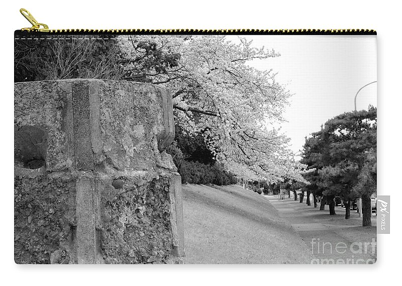 Cherry Carry-all Pouch featuring the photograph Atsugi Pillbox Walk H1 by Jay Mann