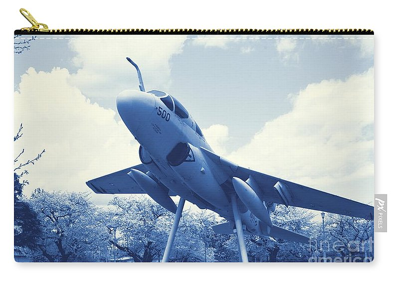 Atsugi Carry-all Pouch featuring the photograph Atsugi Prowler H by Jay Mann