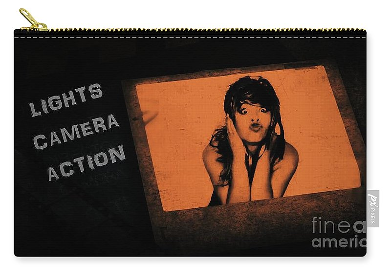 Carry-all Pouch featuring the photograph Attitudinizing by Jessica Shelton