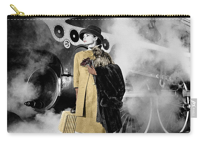 Audrey Hepburn Carry-all Pouch featuring the photograph Audrey Hepburn 7 by Andrew Fare