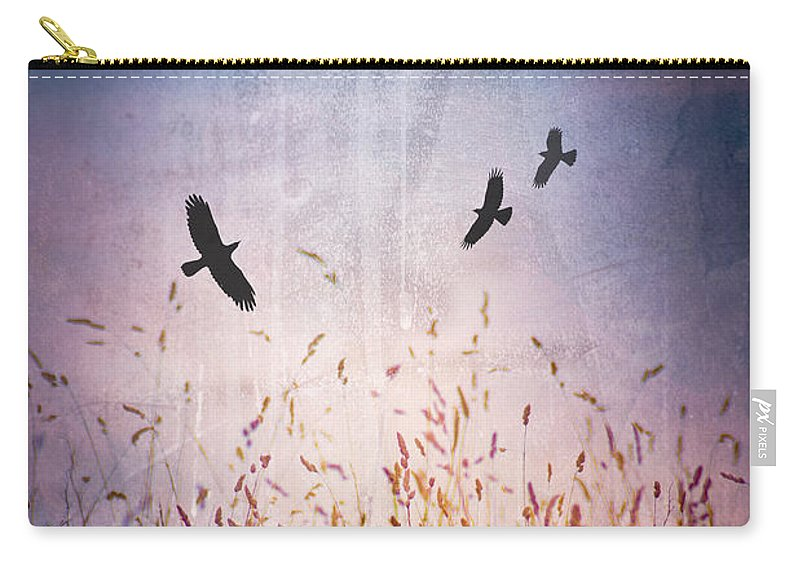 Bird Carry-all Pouch featuring the photograph August Heat by Jan Bickerton
