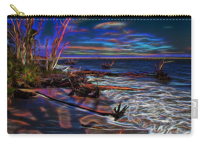 Beach Carry-all Pouch featuring the photograph Aurora Borealis Over Florida by John M Bailey