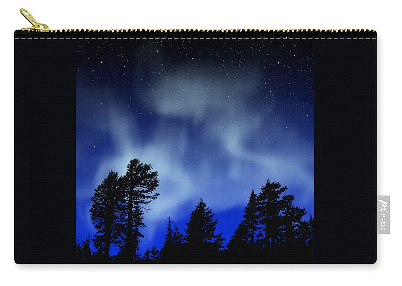 Aurora Borealis Mural Carry-all Pouch featuring the painting Aurora Borealis Wall Mural by Frank Wilson