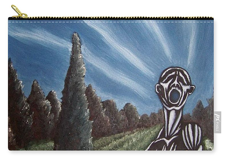 Tmad Carry-all Pouch featuring the painting Aurora by Michael TMAD Finney