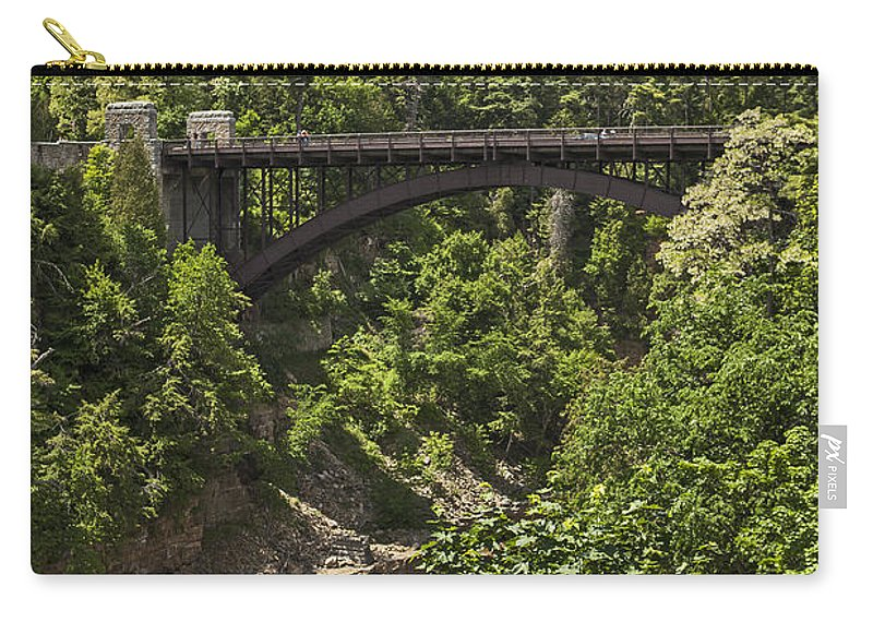 Ausable Chasm Ny Carry-all Pouch featuring the photograph Ausable Chasm Bridge by Eric Swan