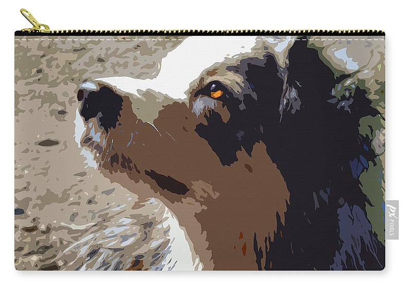 Australian Shepard Carry-all Pouch featuring the photograph Aussie by Nancy Merkle