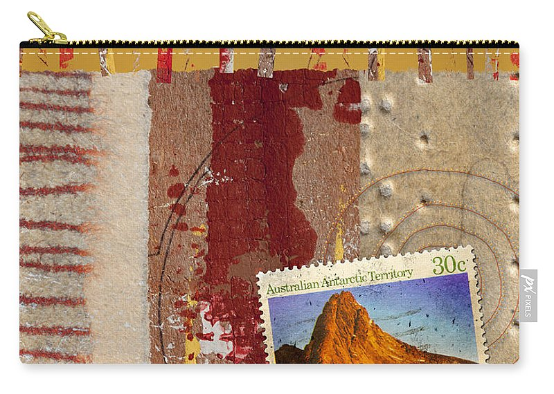 Australia Carry-all Pouch featuring the mixed media Australia Antarctic Territory by Carol Leigh