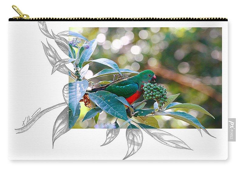Australian King Parrot Carry-all Pouch featuring the photograph Australian King Parrot by Andrew McInnes
