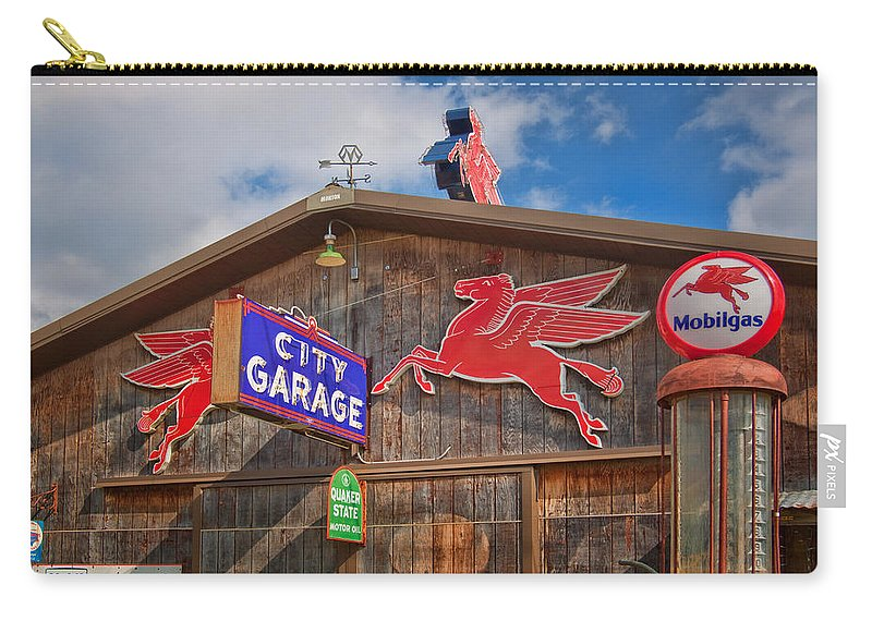 Advertising Carry-all Pouch featuring the photograph Auto Repair At The City Garage by David and Carol Kelly