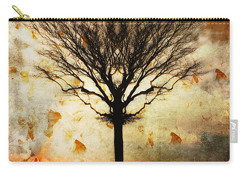 Nag004060 Carry-all Pouch featuring the photograph Autum Wind by Edmund Nagele