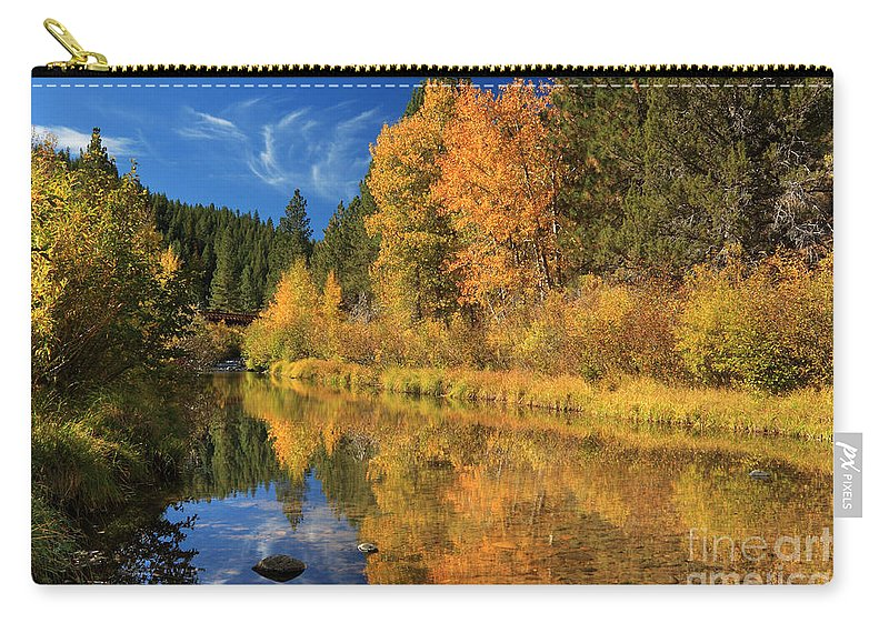 Autumn Carry-all Pouch featuring the photograph Autumn Along The Susan River by James Eddy