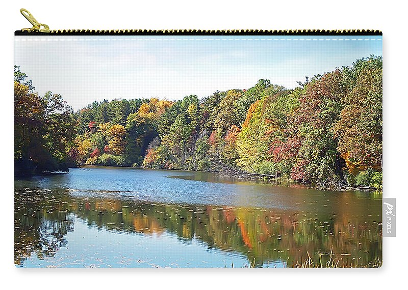 Durand Eastman Park Carry-all Pouch featuring the photograph Autumn At Durand by Aimee L Maher ALM GALLERY