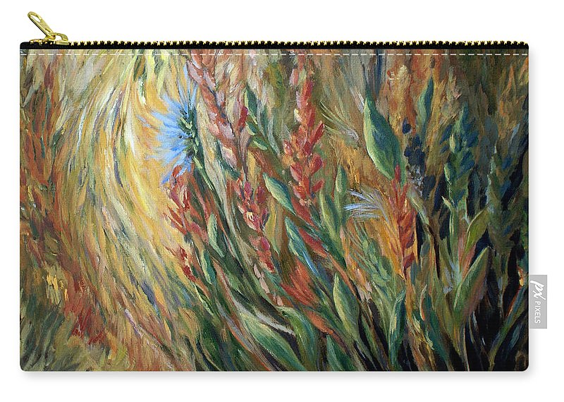 Autumn Floral Blooms Carry-all Pouch featuring the painting Autumn Bloom by Joanne Smoley