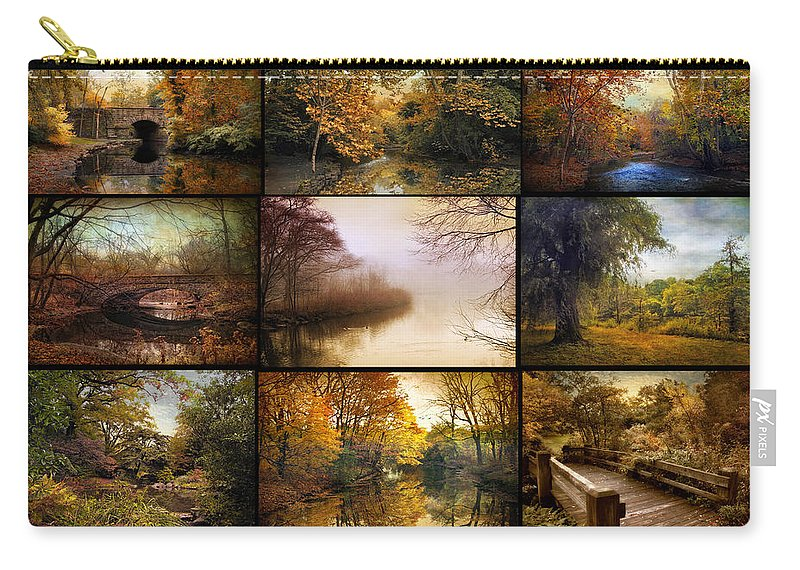 Poster Carry-all Pouch featuring the photograph Autumn Collage by Jessica Jenney