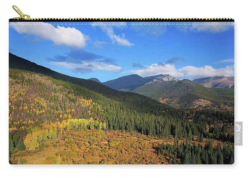Scenics Carry-all Pouch featuring the photograph Autumn Color In Colorado Rockies by A L Christensen